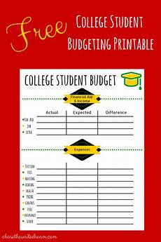 Budgeting College Students College Budget Template Free Printable For Students