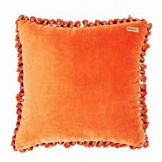 velvet cushion cover in burnt orange let liv www letliv