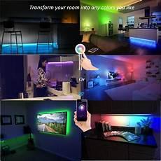 Led Lights For Room Change Color Lombex Smart Wifi Led Light Color Changing Rgb Light