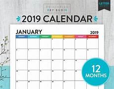 Month Printable Calendar Printable Monthly Calendar 2019 Calendar Printable 2019