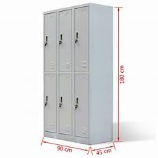 metal locker cabinet 6 doors gray vidaxl