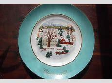 Vintage Avon Christmas Plate 1973, Christmas On The Farm