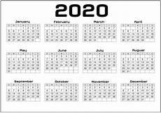Free Printable Yearly Calendars 2020 Yearly Calendar 2020 Printable Free For Agenda Calendar