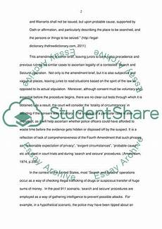 Essay Search Search And Seizure Essay Example Topics And Well Written