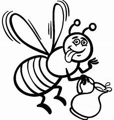 bee coloring page at getcolorings free