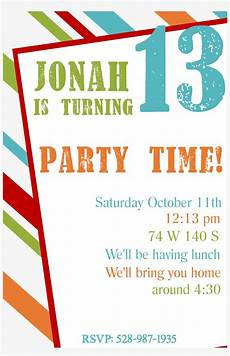 Birthday Invitations For Boy Free Printable Birthday Party Invitation Templates