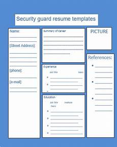 Security Guard Template Security Guard Resume Templates 12 Free Word Amp Pdf Formats