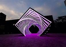 Led Light Installation Accumulation Dramatic Led Light Tunnel By Yang Minha