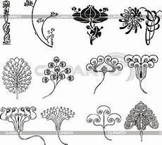 einfache florale ornamente im jugendstil stock
