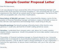 How To Make A Counter Offer Counter Offer Letter Template Business