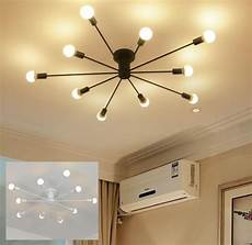 Light Tubes For Ceilings Surface Mounted Iron Pipe Tube Ceiling Lamp Led Bulb