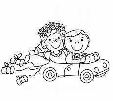 Malvorlagen Hochzeit Kostenlos Ausmalbilder Hochzeitsauto 1ausmalbilder
