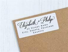 Custom Return Label 30 Custom Return Address Labels Black White Elegant
