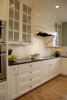 impressive subway tile backsplashin kitchen traditional