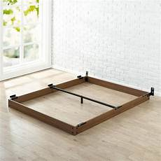 zinus 5 in king wooden bed frame hd wdbf 5k the home depot