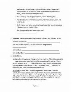 Wedding Planner Contract Wedding Planner Contract Free Sample Docsketch
