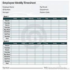 Two Week Timesheet Employee Timesheet Template Stock Photo Image 22981910