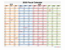 2020 Fiscal Year Calendar Fiscal Year 2020 Quarters Template No Fiscal20y30 Free