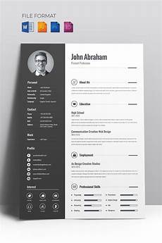 Creative Word Cv Templates Minimal Creative Cv Resume Template 67714