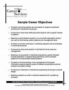 Simple Resume Objective Sample Career Objectives Resume Resume Objective