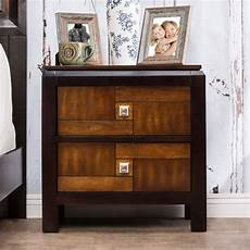 Drp Trading Bedroom Furniture Set Black Walnut Wardrobe by Furniture Of America Alma 2 Drawer Nightstand