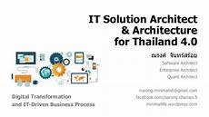 Solution Architecture It Solution Architect Amp Architecture For Thailand 4 0