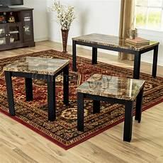 Cf Furniture Living Room 3 Set L Table 3 faux marble coffee table set living room sofa