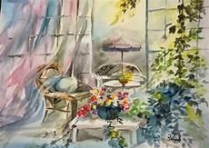 fresco pomeriggio primaverile watercolor by pia
