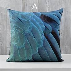 Accent Sofa 3d Image by 3d Bird Feathers Throw Pillow For Home Decoration American