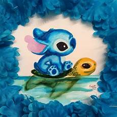 stitches painting stitch crush lilo stitch n scrump