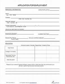 Employment Contact Form 22 Employment Application Form Template Free Word Pdf