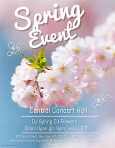 Spring Event Flyer Template Spring Event Template Postermywall
