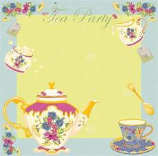 Printable Party Designs 19 Tea Party Invitation Designs Printable Psd Ai Word