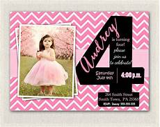 Birthday Invitations Girls Girls 4th Birthday Invitations Printable Fourth Birthday