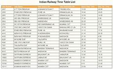 Train Chart Download Indian Railway Train Time Table Download Download Free