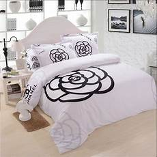 chanel bedding set black and white