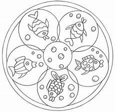 Ausmalbilder Fische Mandala Ausmalbild Mandalas Mandala Mit Fischen Kostenlos Ausdrucken