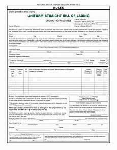 Standard Bill Of Lading Template Bill Of Lading Templates 24 Free Printable Xlsx Pdf