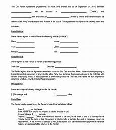 Auto Lease Agreement Sample Vehicle Lease Agreement Templates 12 Free