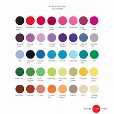 Burnishing Pad Color Chart Colorbox Archival Ink Pad 40 Colors To Choose By