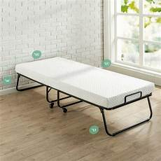 zinus roll away folding guest bed frame with