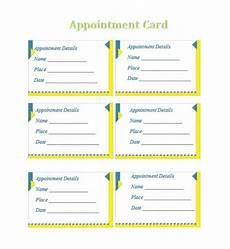 Appointment Cards Template 40 Appointment Cards Templates Amp Appointment Reminders
