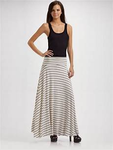 pally knit maxi skirt in white black lyst