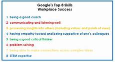 Good Skill According To Google Execs The Most Important Stem Skills