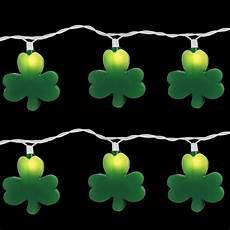 Clover String Lights Brite Star 10 Light Green St Patrick Clover Light Set
