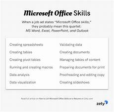 Office Machines List Resume How To List Microsoft Office Skills On A Resume In 2020