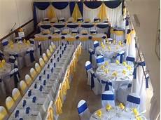 royal blue and yellow wedding decor wedding decor
