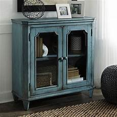 mirimyn antique teal accent cabinet by signature design by