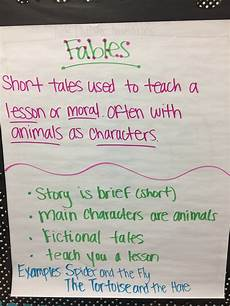 Fable Anchor Chart 2nd Grade Fables Anchor Chart 2nd Grade Classroom Anchor Charts