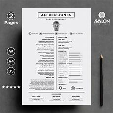 Creative Programmer Resume Professional Resume Template For Ms Word 2 Pages Modern